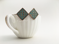 Zahra Stud Earrings with Seafoam Patina (AL472)