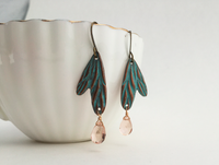 Elongated Butterfly Wings Earrings (AL517)