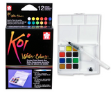 Koi Water Colours Pocket Field Sketch Box | 12 Colours