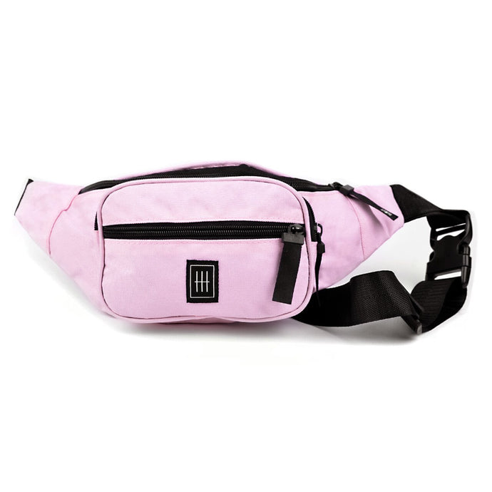 Pink multi compartment fanny pack