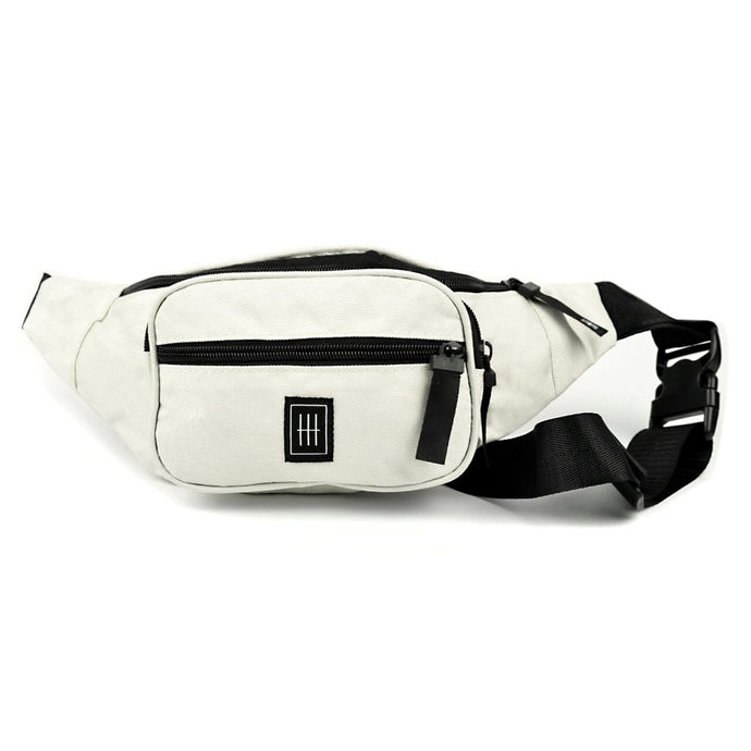 Ivory multi compartment fanny pack