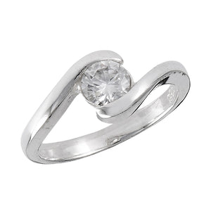 sterling sliver cubic zirconia ring