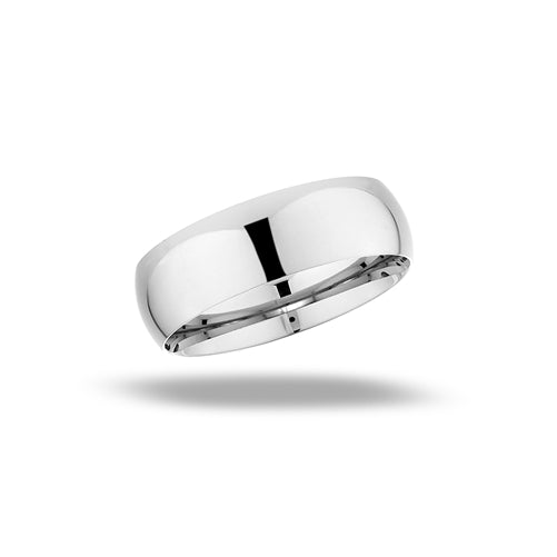 stainless steel high polish basic ring band