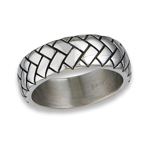 stainless steel cable design band ring