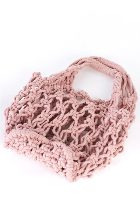 Pink net bucket cotton bag