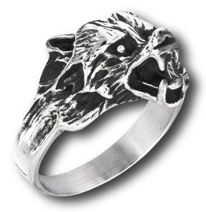 side view of wolf ring