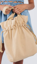 Load image into Gallery viewer, Ivory drawstring large tote bag