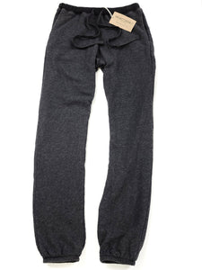 Charcoal elastic waist sweat pants with drawstring