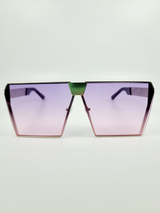 purple ombre squared edge large sunglasses