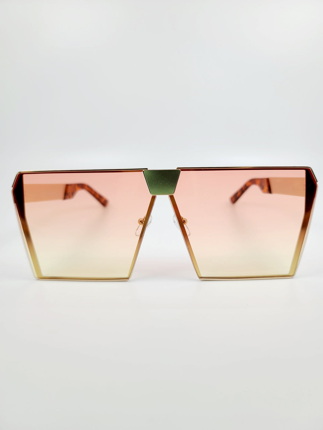orange and yellow ombre squared edge large sunglasses
