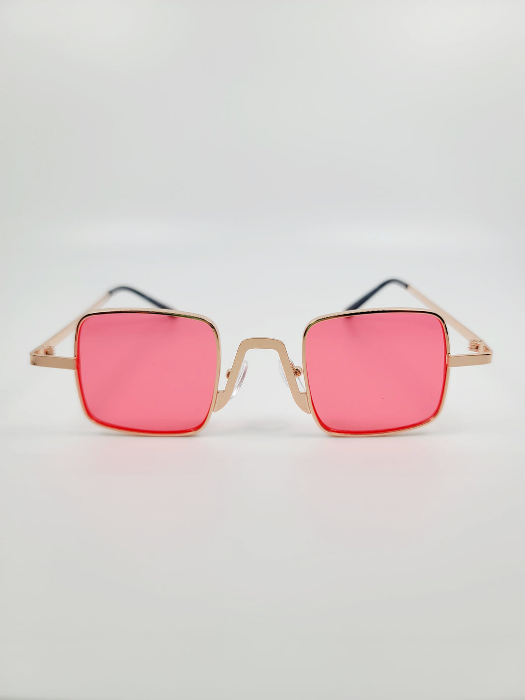 red square wire frame sunglasses