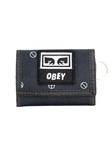 black velcro wallet with logo patch
