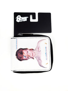 white David Bowie zipper wallet