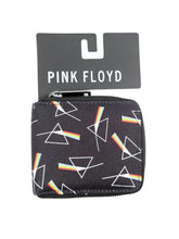 Load image into Gallery viewer, black Pink Floyd zipper wallet