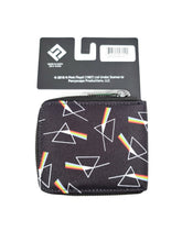 Load image into Gallery viewer, back of black Pink Floyd zipper wallet