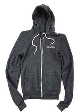 Load image into Gallery viewer, charcoal gray Rag-O-Rama zip up hoody jacket