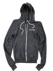 charcoal gray Rag-O-Rama zip up hoody jacket