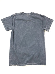 back of gray tie dye Queen short sleeve band tee