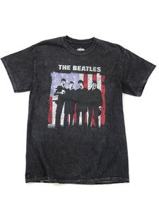black tie dye The Beatles  short sleeve band tee
