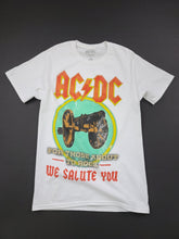 Load image into Gallery viewer, white AC/DC short sleeve band tee