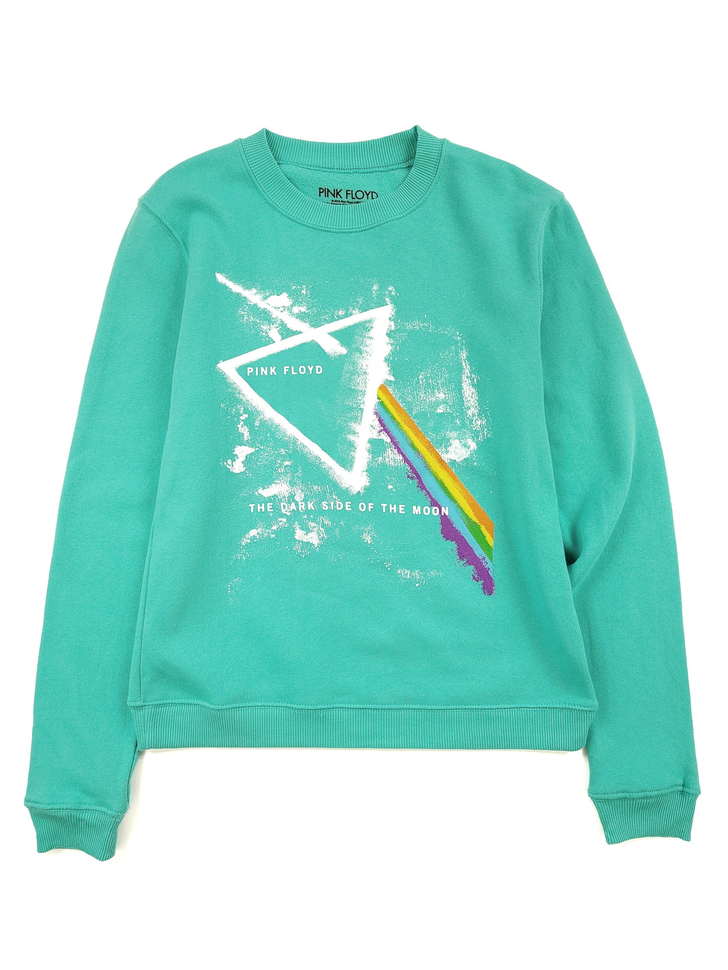 turquoise graphic Pink Floyd band sweatshirt