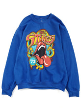 Load image into Gallery viewer, blue graphic The Rolling Stones band sweatshirt