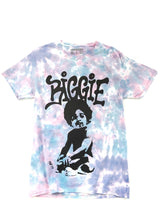 Load image into Gallery viewer, purple and blue tie dye Biggie graphic short sleeve music tee