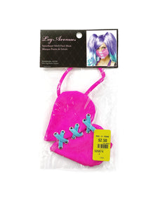 pink lace up heart mask