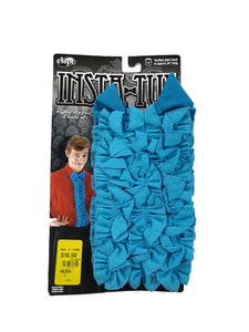 "blue bow tie and 24"" ruffled shirt front 2-piece costume accessory kit"