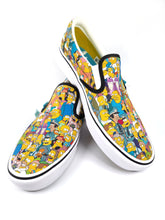 Load image into Gallery viewer, The Simpsons character collage slip-on classic plus Vans