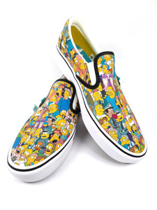 The Simpsons character collage slip-on classic plus Vans