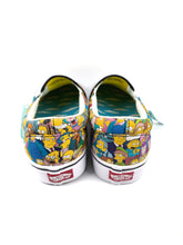 Load image into Gallery viewer, back of The Simpsons character collage slip-on classic plus Vans