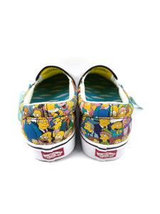 back of The Simpsons character collage slip-on classic plus Vans