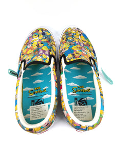 top of The Simpsons character collage slip-on classic plus Vans