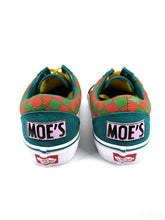 Load image into Gallery viewer, Moe's on back of The Simpsons character side graphic suede toe classic plus Vans