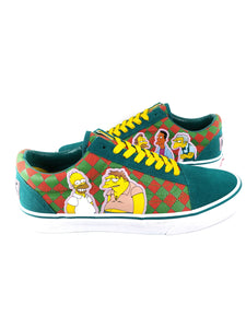 side showing different Simpson's characters on each shoe