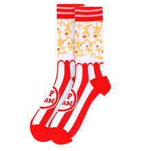 Load image into Gallery viewer, Men's red-white popcorn socks