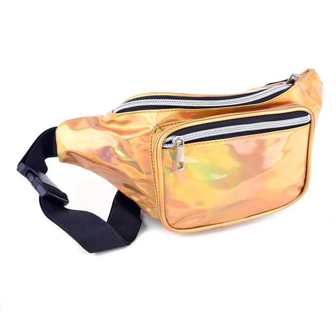 metallic gold fanny pack