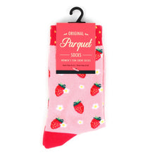 Load image into Gallery viewer, Women's strawberry socks