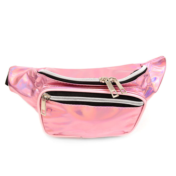 metallic pink fanny pack