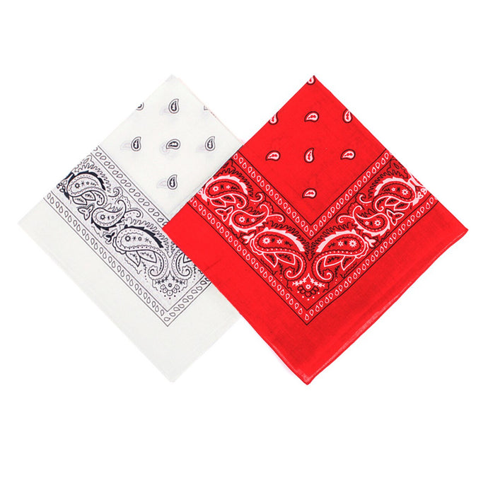 1 white bandana 1 red bandana