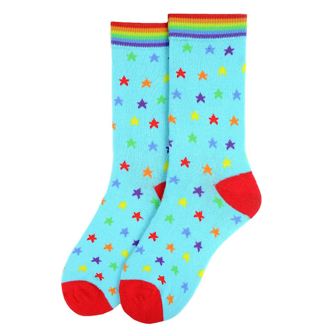 Women's rainbow stars socks