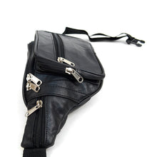 Load image into Gallery viewer, multi compartment black fanny pack