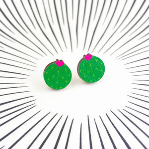 Silly Loaf Flowering Cactus Stud Earrings