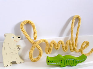 'Smile' Knitted Wire Decoration