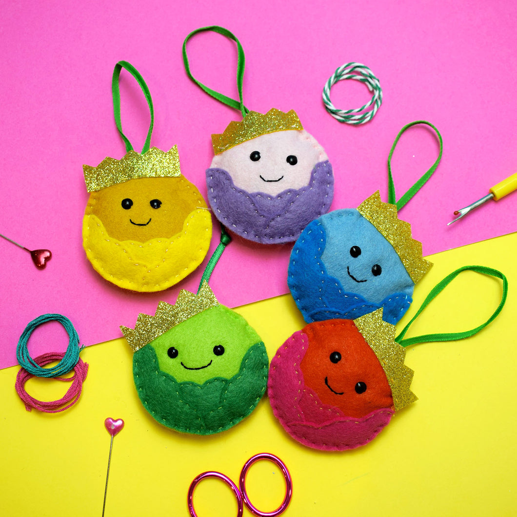 Rainbow Sprout Decoration Felt Sewing Kit