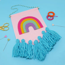 Load image into Gallery viewer, Rainbow Tassel Banner Kit