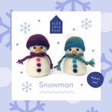 Load image into Gallery viewer, Snowman Needle Felting Kit