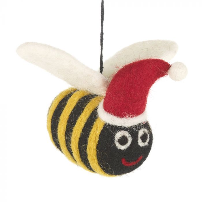Christmas Bee Hanging Felt Decoration