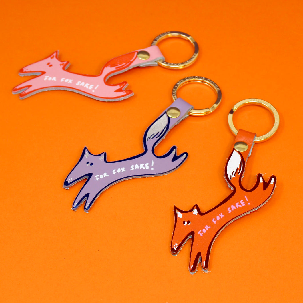 Leather For Fox Sake Key Fob - Colour Options Available